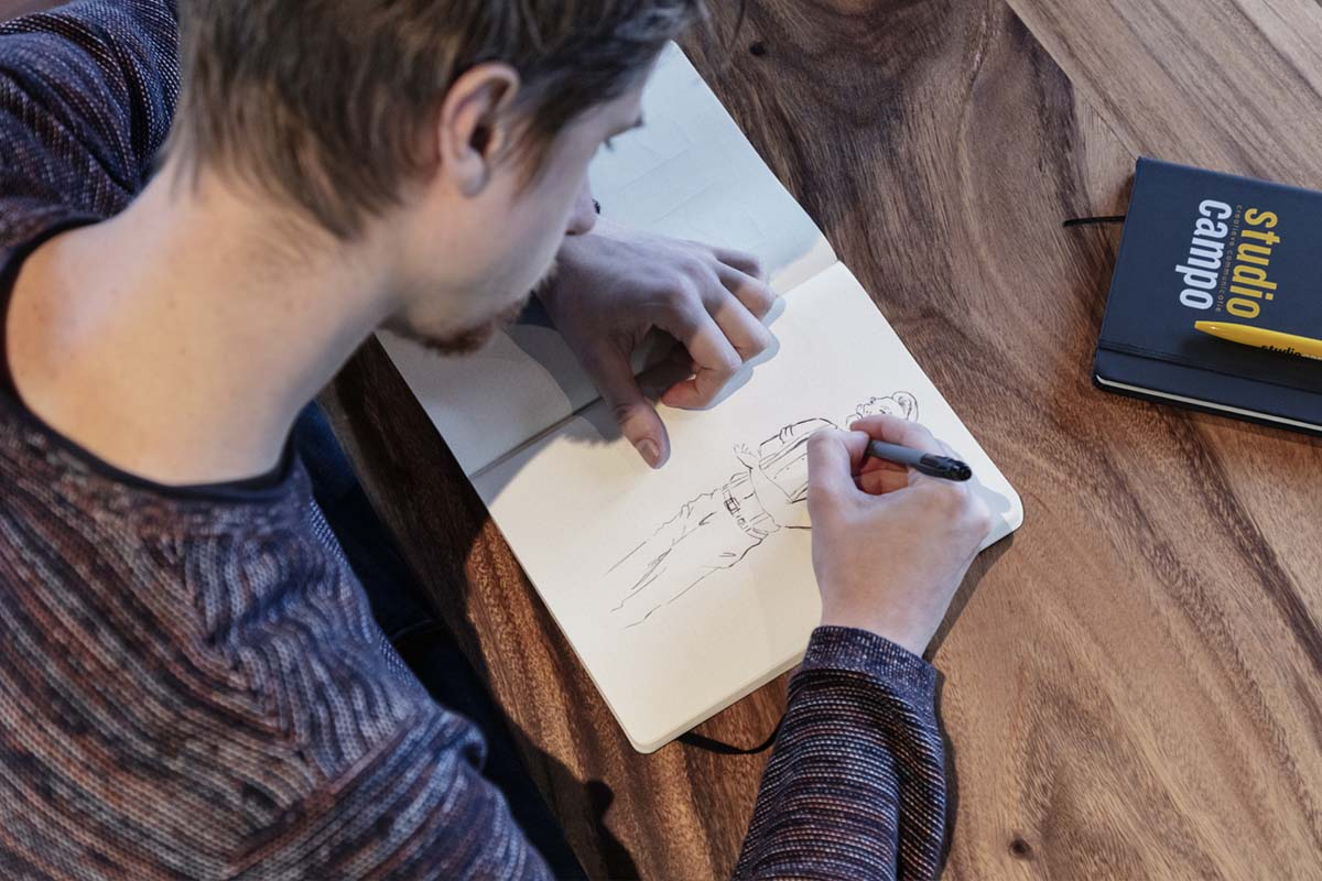 studio campo illustratie tekenen bas woerden