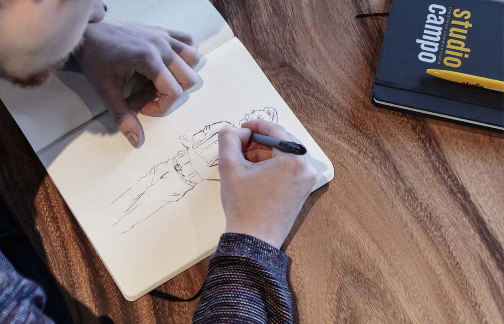 studio campo illustratie tekenen