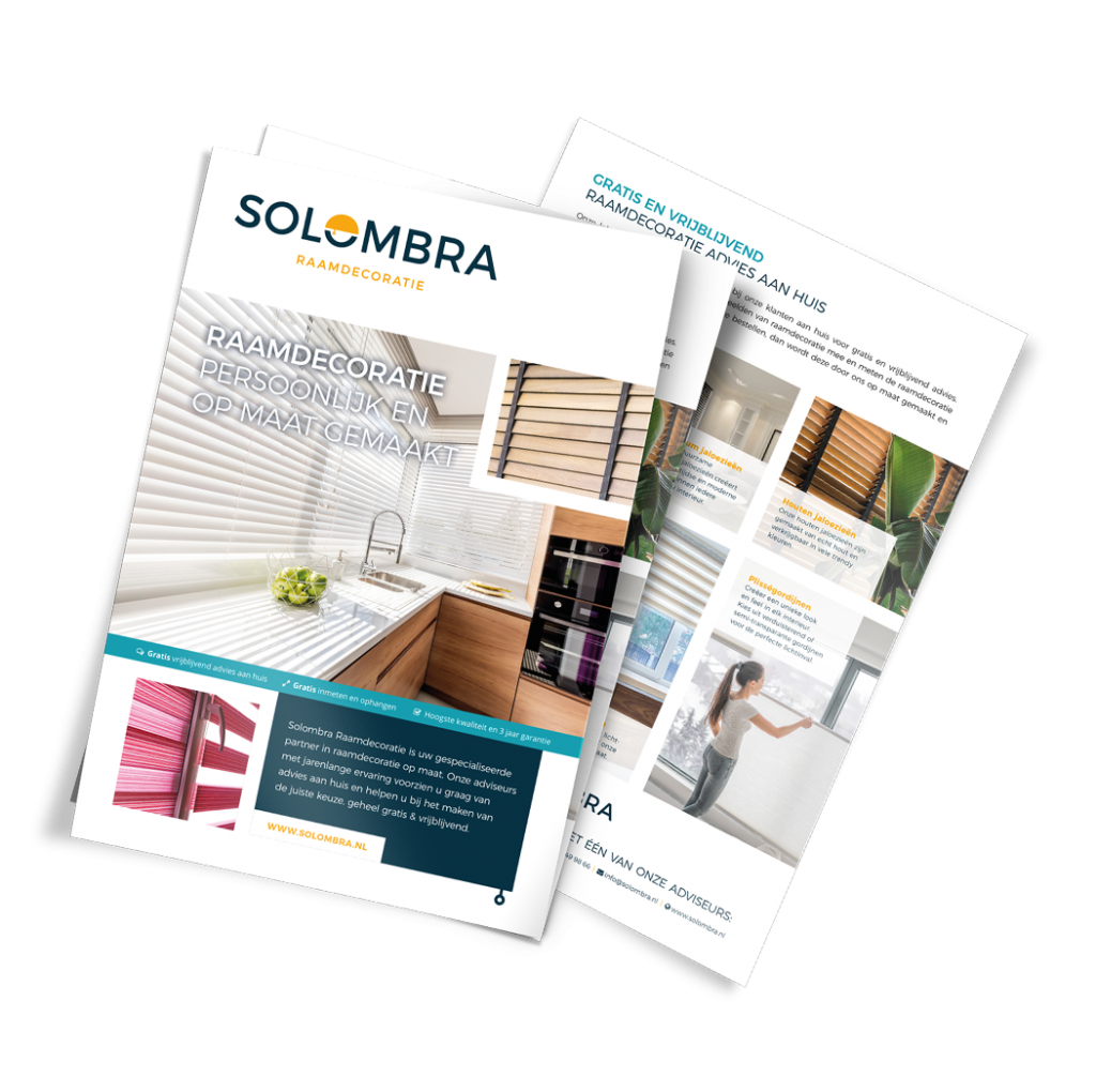 Solombra Grafisch Ontwerp folder brochure