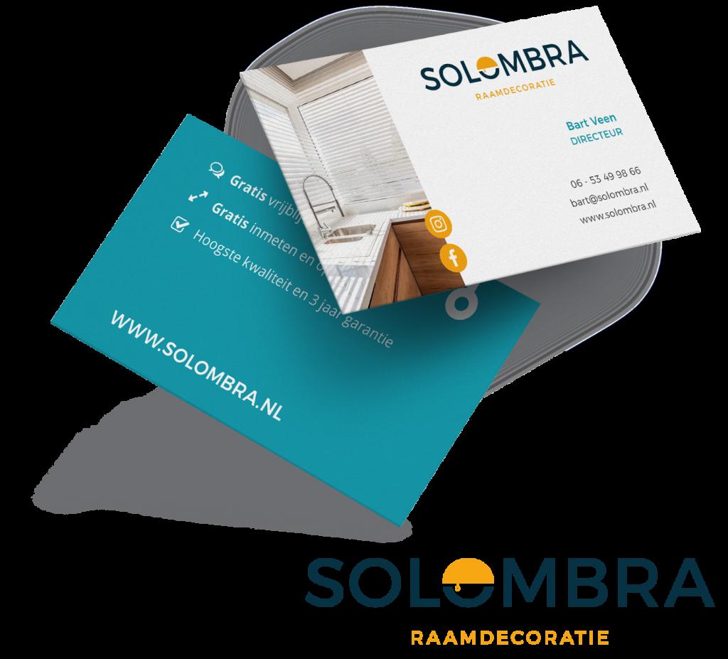 Solombra logo visitekaartje ontwerp