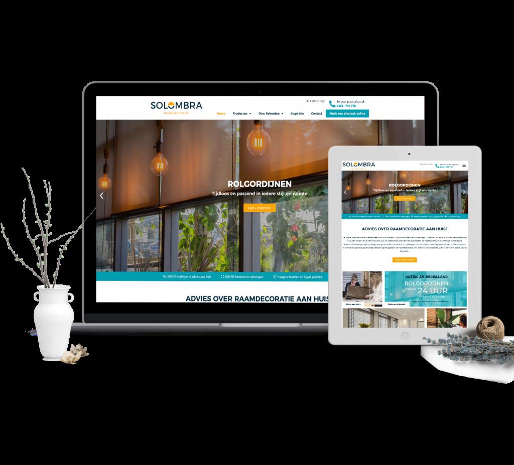 Solombra website ontwerp