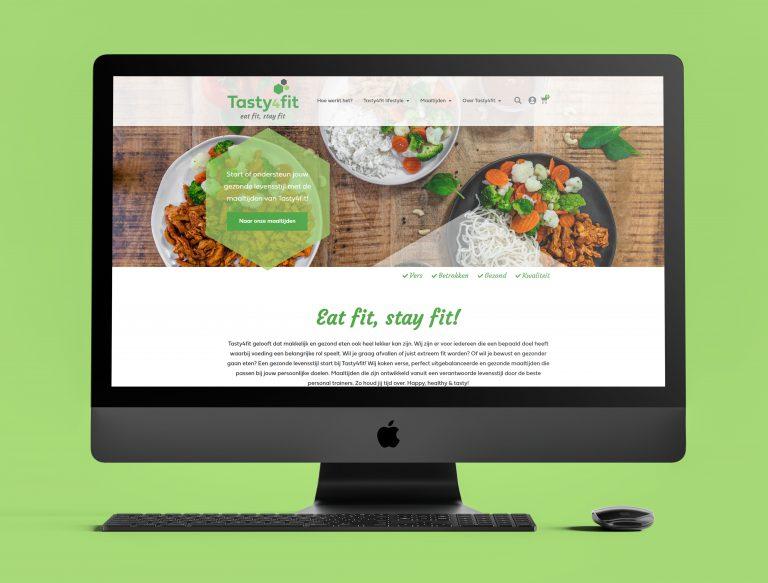 Tasty4Fit website ontwerp Studio Campo Woerden