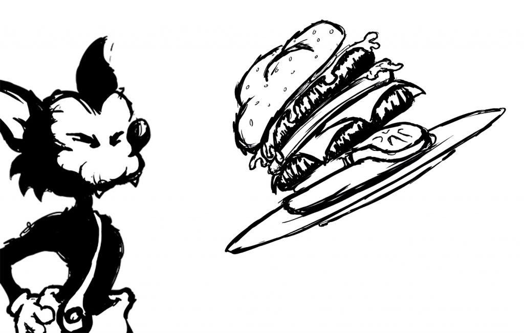 Midas Restaurant Branding Woerden Illustratie mascotte