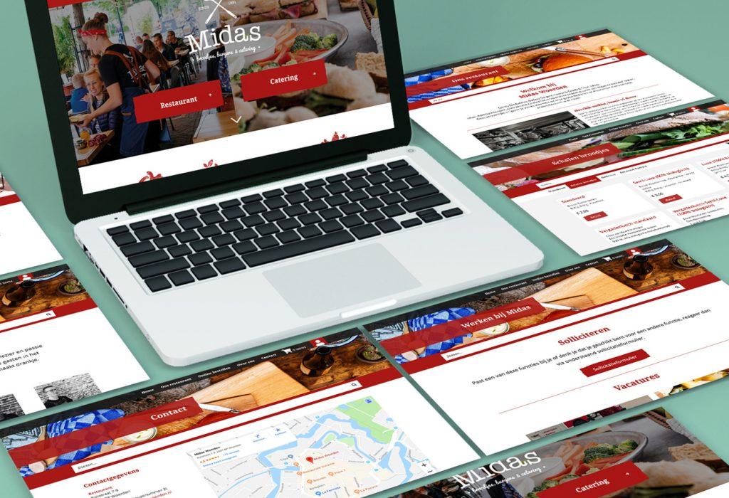 webdesign ontwikkeling Midas Restaurant Branding Woerden