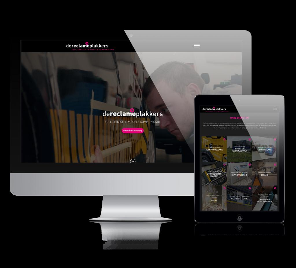 Reclameplakkers website ontwikkeling