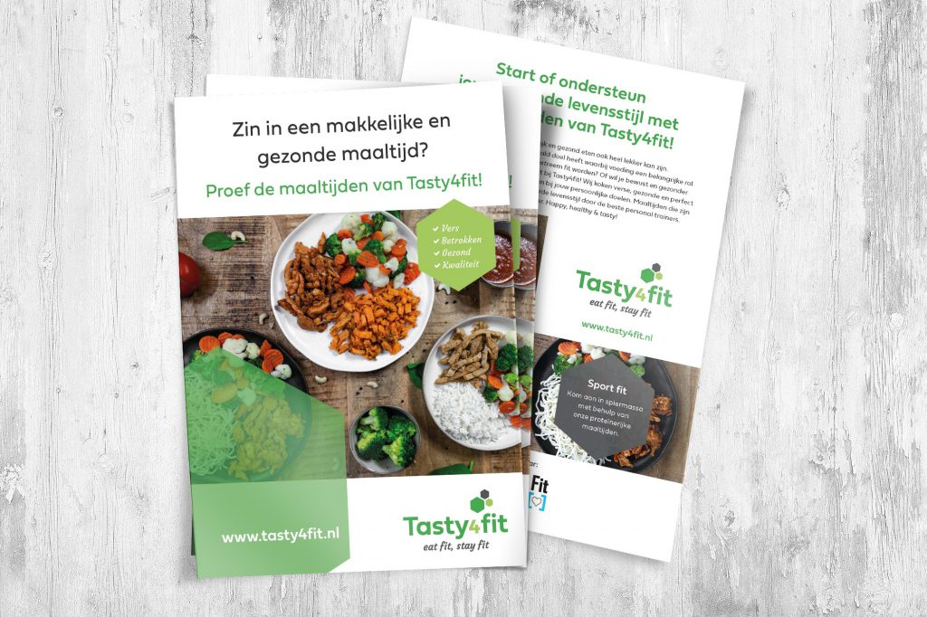 flyer ontwerp tasty4fit studio campo