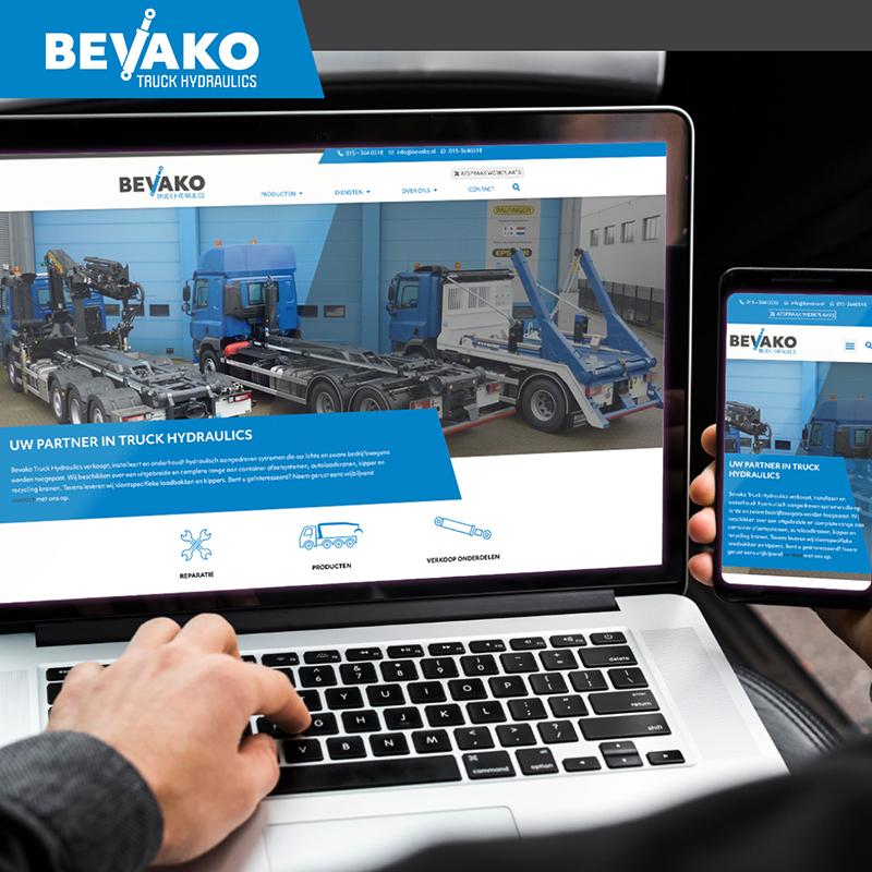 Bevako Truck Hydraulics website