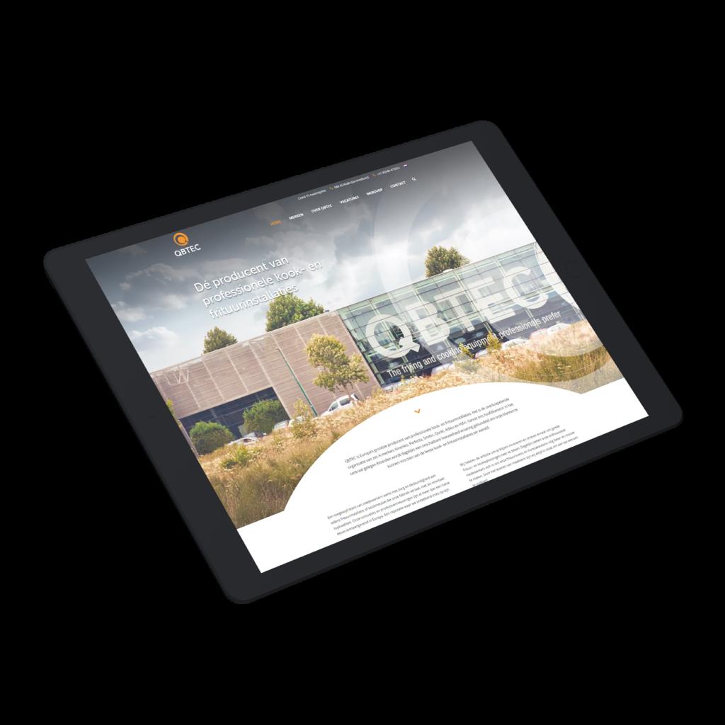 QBtec website ipad