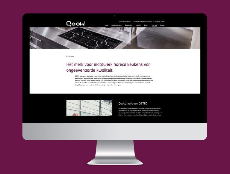 Qook website Studiocampo